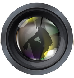 Professional model on photo lens vector image