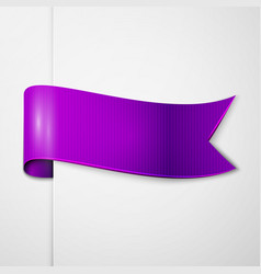 Realistic shiny purple ribbon isolated vector