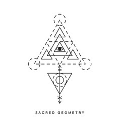 sacred geometry sign tattoo vector image