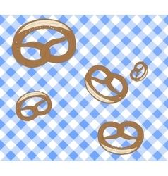 Seamless Oktoberfest pattern Pretzel vector