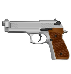 Semi-automatic gun vector image