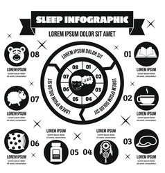 Sleep infographic concept simple style vector