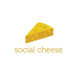 Social cheese concept design template vector