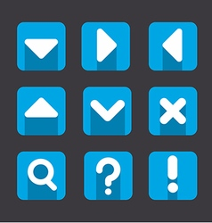 soft icon set vector image