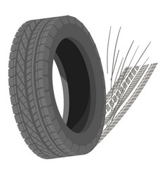Spinning tyre icon isometric style vector