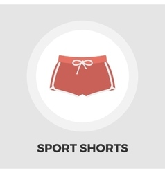Sports shorts icon flat vector image