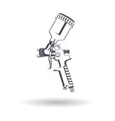 spray gun monochrome vector image