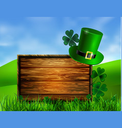 St patrick s day symbol green hat vector