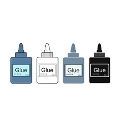 Stationery office glue tube vector image