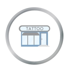 Tattoo salon building parlor icon cartoon Single vector