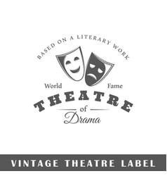 theatre label vector image