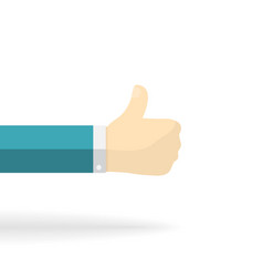 thumb up finger vector image