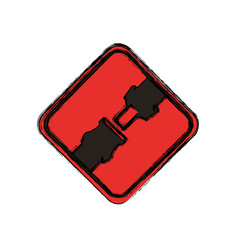 Traffic sign warning security belt vector