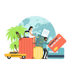 Travel things set concept vector