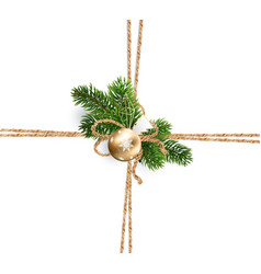Twine of rope for christmas decorations vector