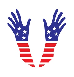 USA hands vector image vector image