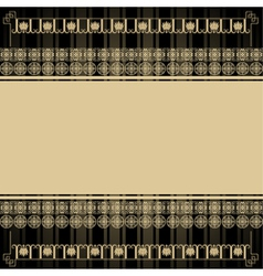 Vintage background with Egyptian design elements vector
