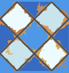 Vintage ceramic tile seamless pattern grunge vector