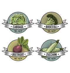 vintage set labels emblems or logo vector image