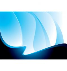 Wave blue swell vector