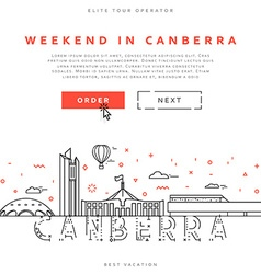 Weekend in Canberra Capital city of Australia vector