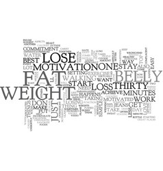 belly fat loss text word cloud concept vector image vector image