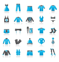 Clothing and Fashion collection icons vector image