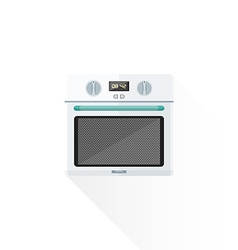flat style white kitchen oven vector image vector image