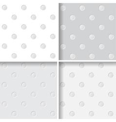 Polka dots seamless pattern vector image vector image