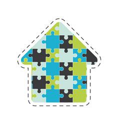 arrow puzzle solution image vector image