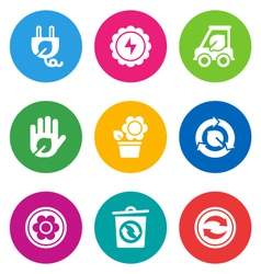 color environmental icons vector image vector image