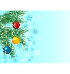 Festive winter background vector image