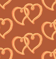 Sketch heart in vintage style vector image vector image