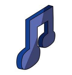 music file symbol vector image