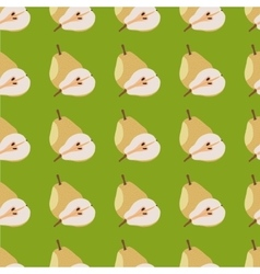 Yellow pears seamless pattern vector image