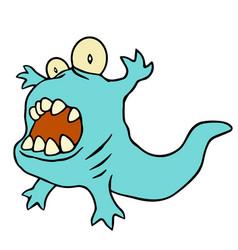 funny blue dinosaur funny blue vector image vector image