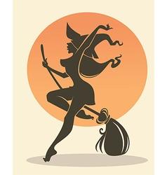 Happy witch vector