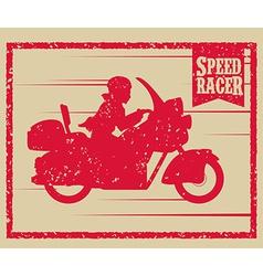 Motorcycle design vector image