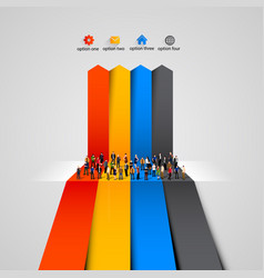people crowd on the graph vector image vector image