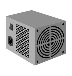 power supply unit icon in monochrome style vector image vector image