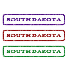 south dakota watermark stamp vector image