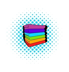 Towel stack icon comics style vector image
