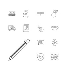 13 label icons vector