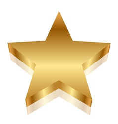 3d of gold star vector