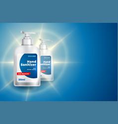 3d style hand sanitizer bottle mockup template vector