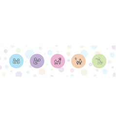 5 mother icons vector