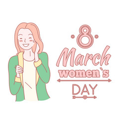 8 march women s day poster girlish concept vector
