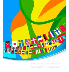 abstract colorful pattern with flags world vector image