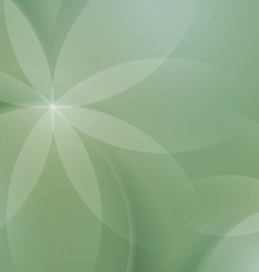 Abstract Floral on Sage Green Background vector