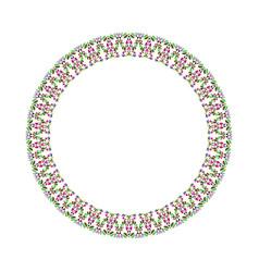 Abstract mosaic wreath - round circular element vector